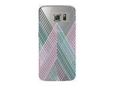 Striped Geometric Pastel Clear Phone Cover