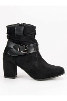 Čierne semišové topánky Nio Nio Platform, Booty, Ankle, Shoes, Fashion, Moda, Swag, Zapatos, Wall Plug
