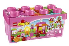 This starter set is a great way to introduce your young girl to the building and rebuilding fun that comes with every LEGO DUPLO set! The All-In-One Pink Box of Fun features special elements such as . Lego Duplo Sets, Duplo Box, Gifts For 3 Year Old Girls, 1 Year Old Girl, Toddler Girl Gifts, Toddler Toys, Kids Toys, Toys R Us, Educational Toys For Toddlers