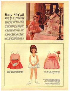 Betsy McCall goes to a wedding....June 1962