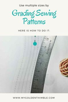 Learn how to use multiple sizes in one sewing pattern. This way it can fit your body better.