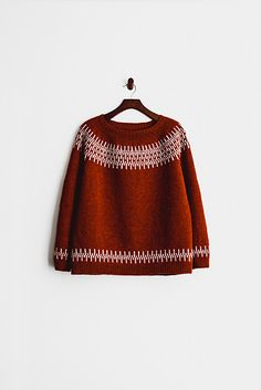 Knitting Patterns Sweter le tricot し Ravelry amiijjang& beat sweater pullover laine wool knit rouge red terracotta Pull Crochet, Knit Crochet, Ravelry Free Knitting Patterns, Fair Isle Knitting Patterns, Free Pattern, Crochet Patterns, Motif Fair Isle, How To Purl Knit, Schneider