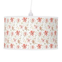 Abstract Modern floral spring blooms brushtrokes Ceiling Lamp - spring gifts style season unique special cyo