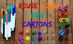 Tips for Reusing and Upcycling Egg Cartons. From storage to crafts to kid learning activities.