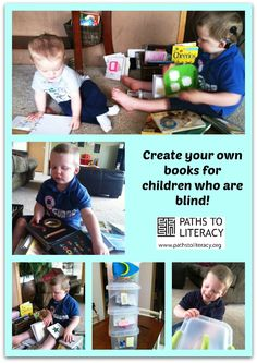 Liam's mom shows you how to make your own tactile books for kids who are blind using material you have at home! *pinned by WonderBaby.org