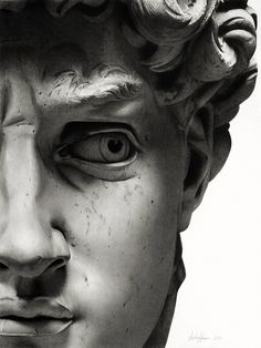 David (Michel Ange) The rest is silence (Hamlet ) - sicile mon amour - - Sculpture Romaine, Greek Statues, Ancient Greek Sculpture, Roman Sculpture, Greek Art, Classical Art, Renaissance Art, Aesthetic Art, Dark Art