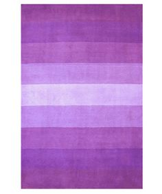 @Overstock.com - Hand-tufted Purple Stripes Wool Rug (8' x 10') - If you're trying to liven up a teen's bedroom or dorm, this feminine hand tufted wool rug is ideal. The pile is 100 percent wool and the rug has a cotton backing to provide years of wear. In varying shades of purple, this rug will brighten up any space.  http://www.overstock.com/Home-Garden/Hand-tufted-Purple-Stripes-Wool-Rug-8-x-10/1171473/product.html?CID=214117 $198.99