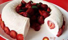 Nepečený jahodový tunel z formy na bábovku: U nás najobľúbenejší jahodový dezert celej sezóny! Creative Food, Tupperware, Panna Cotta, Cheesecake, Food And Drink, Baking, Cakes, Google, Dulce De Leche