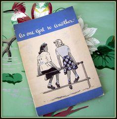 Vintage Feminine Pamphlet 1940 Kotex by merrilyverilyvintage,