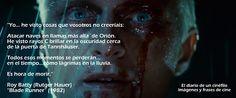 """El diario de un cinéfilo clásico: Imágenes y frases de cine: """"Blade Runner"""""""