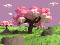 Low Poly Cherry Tree
