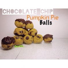 Ripped Recipes - Chocolate Chip Pumpkin Pie Balls  - Sweet little treats that will leave you coming back for seconds!