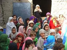Girls in class at Saw school Afghanistan