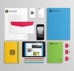 GracePlace church stationary on Behance