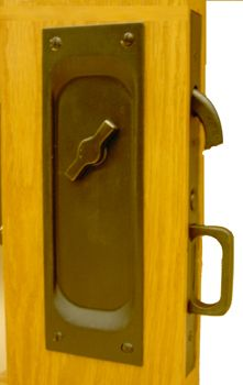 Privacy Pocket Door Hardware sliding door hardware hb 690 privacy lock - halliday baillie