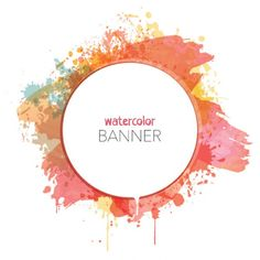 Watercolor vector frame background