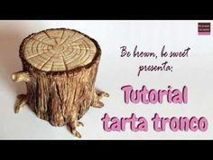 DIY BASE IMITACION TRONCO DE MADERA - YouTube