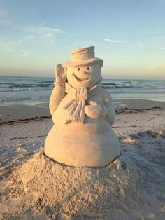 Frosty the Sandman (Snowman)- Merry Christmas San Diego! Beach Christmas, Coastal Christmas, California Christmas, White Christmas, Christmas Vacation, Tropical Christmas, Christmas In Florida, Christmas Wishes, Aussie Christmas