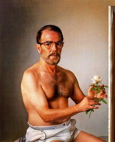 Yo con una flor de otoño (Me with an autumn flower) by Eduardo Naranjo - 1999