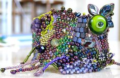 Freeform Peyote Stitch Bracelet by GoddessJoy Designs, via Flickr