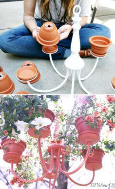 Chandelier Planter. Jislaine ♥ to inspire you! http://www.jislaine.de