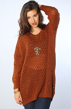 The Eagle Knit Sweater in Rustic Brown by Nikita