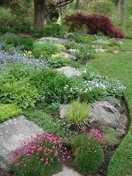 Rock Garden - for the front hill