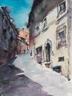 Paintings For Sale, Original Paintings, Watercolor Paper, Lovers Art, Tuscany, Buy Art, Sculptures, Watercolors, Italy