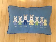 Happy Applique bunny family