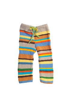 Children's hand knitted pants... kids get to wear all the fun stuff.