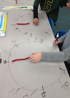 A fun (and tasty) math activity - Teacher Idea Factory. Telling time with Twizzlers