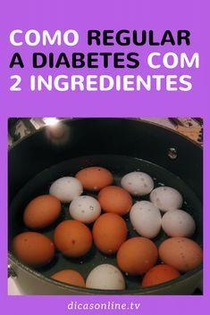 Ovo para diabetes com vinagre de maçã