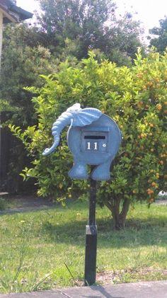 Loving this elephant letterbox