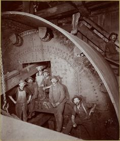 New York City subway construction workers ca 1901