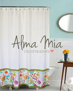 Nueva Linea Fresh Cortina de Baño Diseño Alma Mia Decoraciones.  New collection Shower Curtain By Alma Mia Decoraciones  www.almamiadecoraciones.com