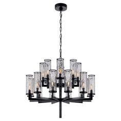 Visual Comfort Liaison Double Tier Chandelier in Antique-Burnished Brass with Crackle Glass Finish: Bronze Bronze Chandelier, Chandelier Ceiling Lights, Luxury Chandelier, Ceiling Lamp, Chandeliers, Kelly Wearstler, Dining Room Colour Schemes, Visual Comfort Lighting, Circa Lighting