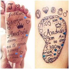 40 creative little tattoos ideas for mothers with kids - - 40 creative little . - 40 creative little tattoos ideas for mothers with children – – 40 creative little tattoos i - Mommy Tattoos, Mom Baby Tattoo, Tattoos For Baby Boy, Baby Feet Tattoos, Baby Name Tattoos, Tattoo For Son, Family Tattoos, Tattoos For Kids, Little Tattoos