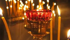 candles All Saints' Day in Greece and more. All Saints Day, Candelabra, Birthday Candles, Lanterns, Greece, Candle Holders, Prayers, Religion, Orthodox Icons