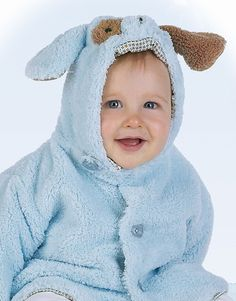 $34.00 Perfect Little Gentleman - Blue Doggy Hooded Coat 6m-24m