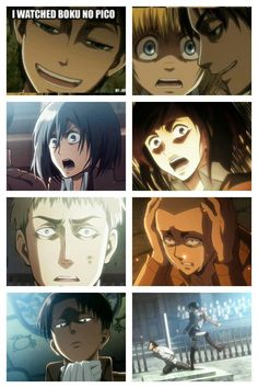 Welcome to the fandom of Attack on Titan! I don't own all the pictu… - Attack on titan Attack On Titan Season 2, Attack On Titan Meme, Attack On Titan Fanart, Attack On Titan Crossover, Aot Memes, Funny Memes, Memes Humor, Anime Meme, Anime Manga