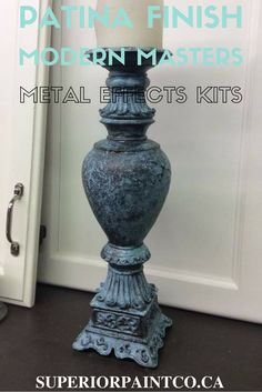How to patina using Modern Masters Blue Patina Kit DIY Blog