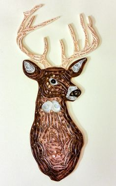 Quilled Whitetail Deer  #mainelyquilling #quilleddeer #whitetail