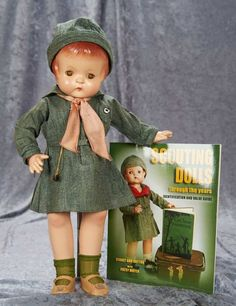"""19"""" American Composition Patsy Ann in Original Girl Scout Uniform, with Provenance 300/500 Auctions Online 
