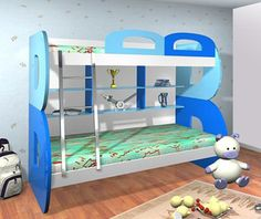 """Bunk Bed Model 1006  Outer Dimensions (approx): 79""""x50""""x62""""  Rs. 46,800/- without pull-out bed Rs. 51,200/- with pull-out bed Rs. 56,700/- with side steps  Mattress is extra. Please email for prices. Delivery Estimated delivery time is 60 days. visit http://kidsfurnitureworld.in/bunk-beds.html"""