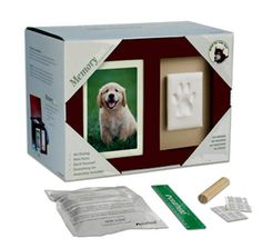 What a great way to remember your cat or dog than with this memory box and urn that also includes material to capture your pets paw print. Put your pets favorite toys, collar and leash in the box. $49.95 #pets #memorial #dog #pawprint