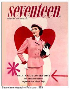 1953 seventeen magazine pink vintAge  ★彡