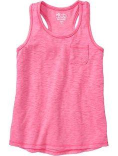 Girls Slub-Knit Jersey Tanks
