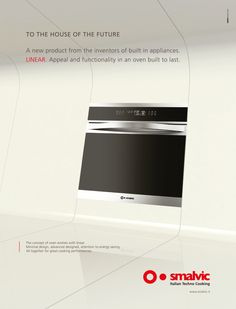 CLIENTE Smalvic. Campagna multisoggetto per una nuova linea di elettrodomestici per la cucina. Come sarà la casa del futuro? Smalvic, precorrendo i tempi, ce ne dà un assaggio #adv #pubblicità #comunicazione #tecnologia #cucina