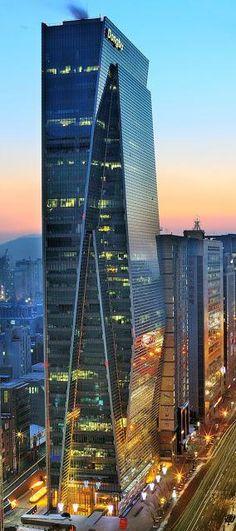 Dongbu Financial Center, Seoul, South Korea by Kohn Pedersen Fox Architects (KPF):: 35 floors, height 151m