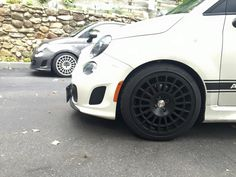Fiat 500 Abarth with Montecarlo Wheels by EVO Corse #evocorse #wheels #fiat500 #abarth #madeinitaly #italy
